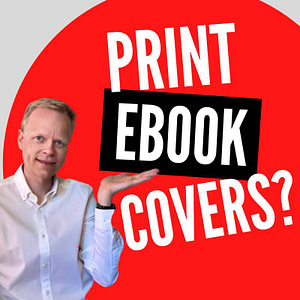 Can authors use same cover for print and ebook?
