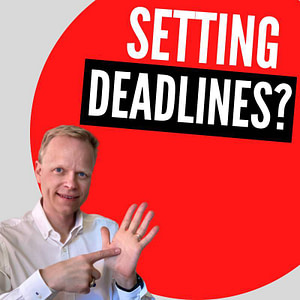 Is it wise to set a deadline when deciding on publishing a book?